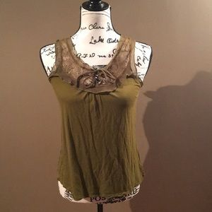 NWT Olive Green Dressy Tank